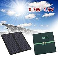 ソーラー充電器0.7W 5Vソーラーパネルエポキシ小型ボードソーラーモジュールポリシリコンソーラーパネル高電力効率接続柔軟な超薄型軽量ポータブル住宅キャンプボートテント屋外防災(12ヶ月保証、70 * 70MM)