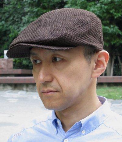 井上帽子 コットンメッシュハンチング 【カラー:ブラック】