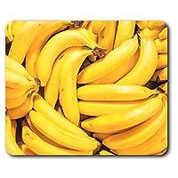 快適なマウスマット - バナナツインテールフルーツ健康食品23.5 X 19.6センチメートル(9.3 X 7.7インチ)コンピュータ&ノートパソコン、オフィス、ギフト、ノンスリップベース用 - RM24581