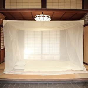 国産 蚊帳 片麻 6畳用 生成 日本製