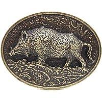 Brass Wild Boar Pig Hog Belt Buckle Native Western Cowboy