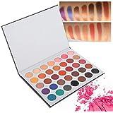 35色アイシャドウパレット、アイシャドウパレット化粧マットグロスアイシャドウパウダー化粧品ツール(02)