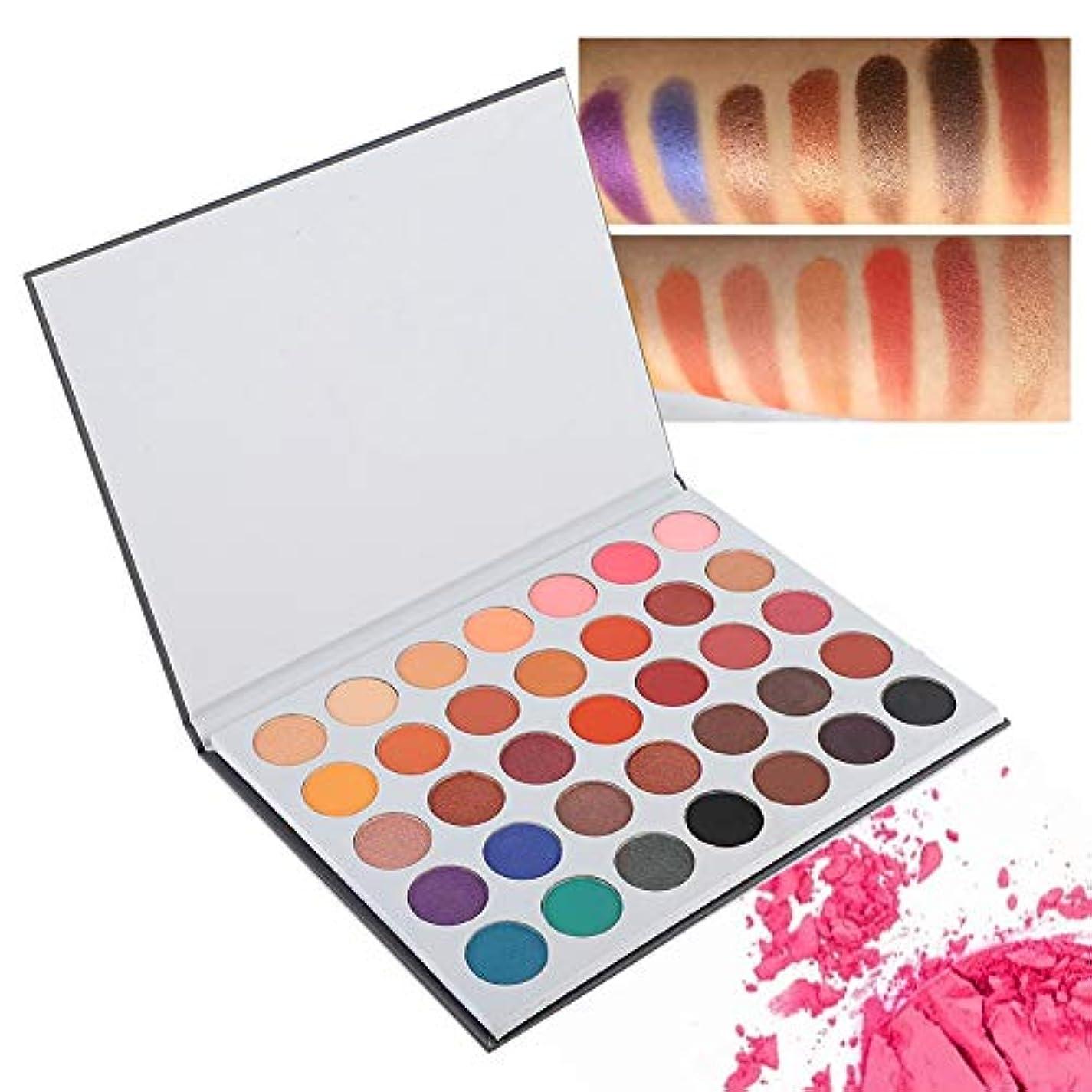 パトロントラップふくろう35色アイシャドウパレット、アイシャドウパレット化粧マットグロスアイシャドウパウダー化粧品ツール(02)