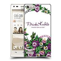Official Frida Kahlo バンチ パープル・フローラル ハードバックケース Huawei Ascend G6