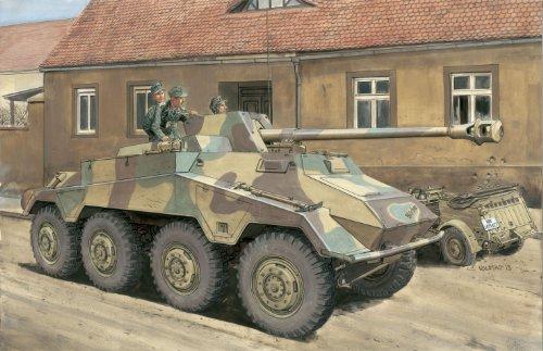 サイバーホビー 1/35 WW.II ドイツ軍 Sd.Kfz.234/4 パックワーゲン 8輪対戦車自走砲 プレミアム エディション