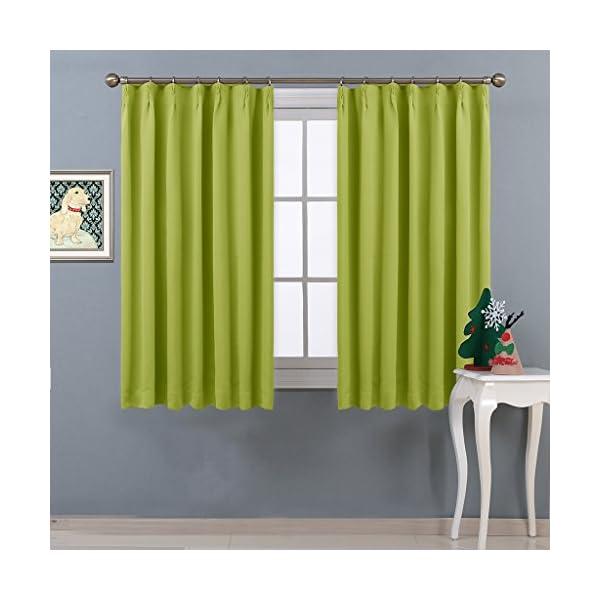 NICETOWN 遮光カーテン 2枚セット グリ...の商品画像