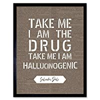 Dictionary Quote Dali Drug Hallucinogenic Art Print Framed Poster Wall Decor 12x16 inch 見積もり ポスター 壁 デコ