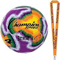 ChampionスポーツExtreme Tie Dyeサイズ4サッカーボールタイダイwith 1 performall Lanyard extd4 – 1p
