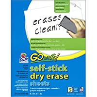 GoWrite! INVAS8511BN Self Stick Dry-Erase Sheets 8.5 x 11 5 per Pack 6 Packs [並行輸入品]