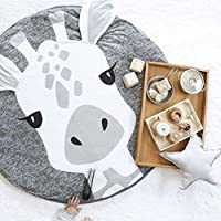 YuuKo(ユウコ)ラグ 洗える 軽量 滑り止め付 ラグマット カーペット 北欧 綿 ホットカーペット対応 フランネル 丸形 ホットカーペットカバー オールシーズン おもちゃマット ベビー 子供 キッズ (StyleJ)