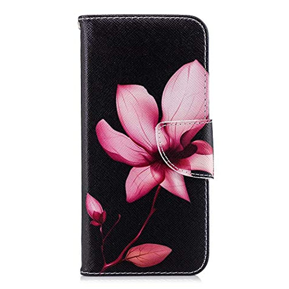 くラベル代数的OMATENTI Huawei Honor 10 ケース, ファッション人気 PUレザー 手帳 軽量 電話ケース 耐衝撃性 落下防止 薄型 スマホケースザー 付きスタンド機能, マグネット開閉式 そしてカード収納 Huawei Honor 10 用 Case Cover, 花