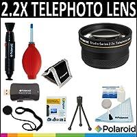 Polaroid Studio Series 2.2x HD Telephoto Lens + Cleaning Accessory Kit For The Nikon D40 D40x D50 D60 D70 D80 D90 D100 D200 D300 D3 D3S D700 D3000 D5000 D3100 D3200 D7000 D5100 D4 D800 D800E D600 Digital SLR Cameras Which Have The Nikon (28-300mm 16-35mm 10-24mm 12-24mm 17-55mm 80-200mm 80-400mm 24-120mm 70-200mm 24mm 24-70mm 85mm f/1.4D 24-120mm F4) Lens