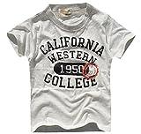 (シスキー) shisky アメカジ・プリントTシャツ キッズ ジュニア用 ナンバーロゴ 半袖 ティーシャツ 男の子 ダンス衣装 子供服