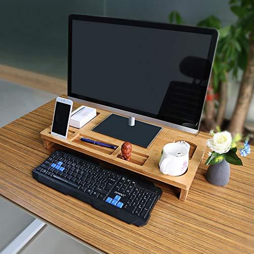OGORI モニター台 パソコン台 机上台 竹製机上台 小物...