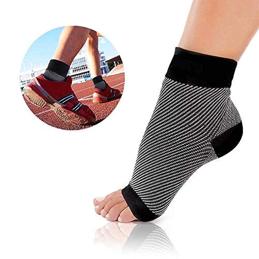 居心地の良い操作可能に向かって足首サポーター 足底筋膜炎 アーチサポーター 土踏まず 靴下 扁平足 矯正 足裏の痛み 足首固定保護 疲れを軽減 立ち仕事 捻挫 スポーツ用 男女兼用 (L/XL)