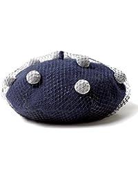 (エムエイチエー) M.H.A.style ポンポン&チュール付き ベレー帽 レディース 秋冬 帽子 クラシカル 21868