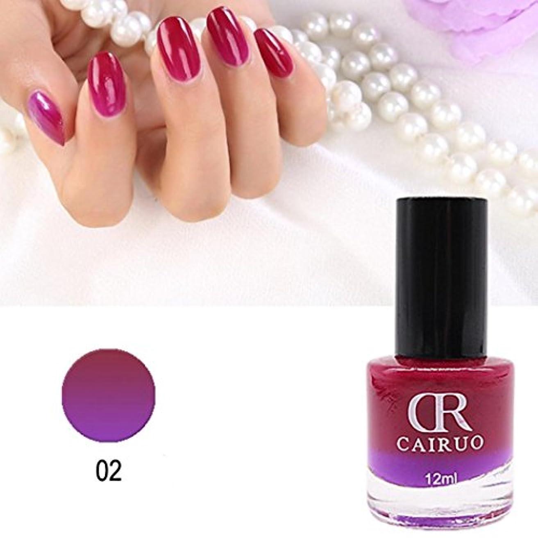 ネイルカラー BOBOGOJP 26選 色のバリエーション豊富 透明感 マニキュア 人気 流行 塗りやすい 速乾 nail 指先 爪先 ネイル用 温度にり色が変わるネイルポリッシュ (B)