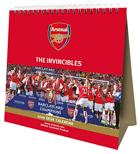 Arsenal FC 2020 Desk Easel Calendar - Official Desk Easel Format Calendar