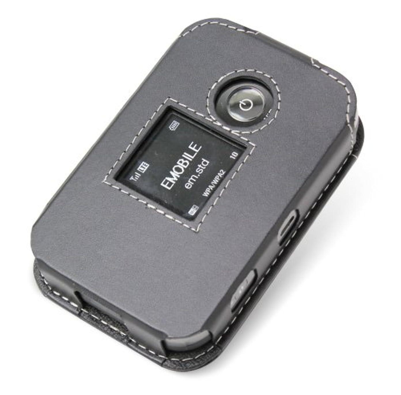 クリップ蝶認証論文PDAIR レザーケース for Pocket WiFi LTE(GL04P) スリーブタイプ(ブラック) PALCGL04PS/BL
