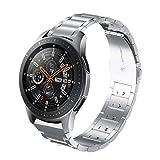 VICARA Compatible Samsung Galaxy Watch (46mm)バンド ステンレス 22mm 調整工具不要 錆びにくい スチール オシャレ 金属製 高級腕時計 ビジネス 替えベルトCompatible Samsung Galaxy Watch 46mm SM-R800/SM-R805/Galaxy Gear S3(銀)
