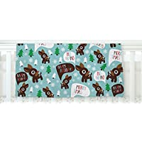 KESS InHouse KESS Original Cheerful Reindeer Blue Brown Fleece Baby Blanket 40 x 30 [並行輸入品]