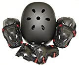edunamay ヘルメット プロテクター 3点(肘・膝・手首)セット スケボー 2カラー サイズ(S/M/L)