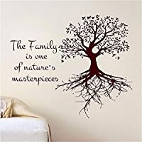 Dtcrzj 家族は自然の傑作ウォールステッカー家の装飾リビングルームビニールアップリケ取り外し可能なDiyステッカー70センチ×59センチ
