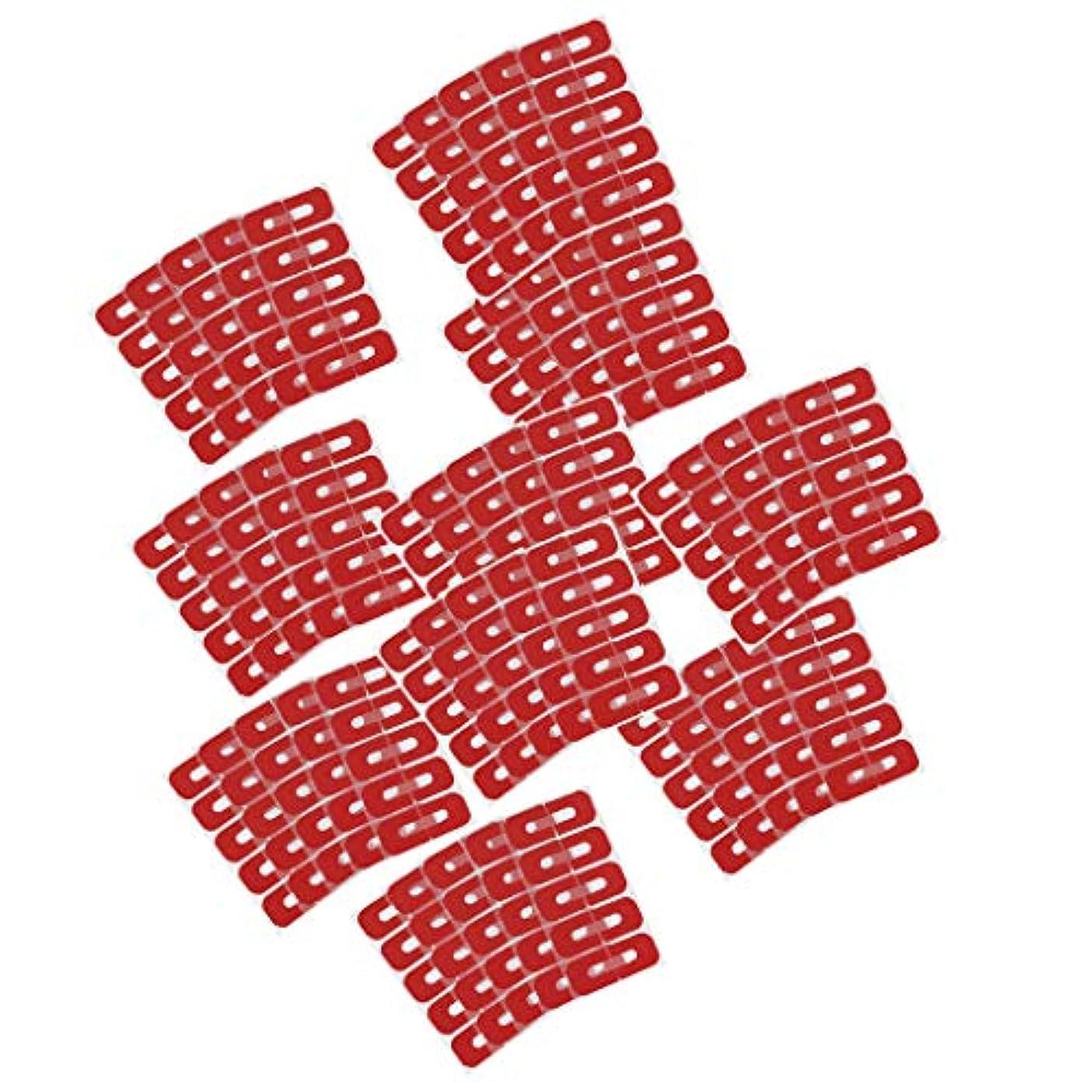 適格報酬の結晶Generic 50ピースレッド使い捨てピールオフテープネイルアート流出防止スキンバリアポリッシュプロテクターカバーガード