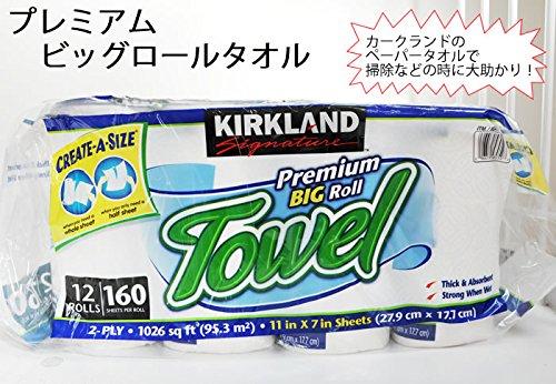 キッチンペーパータオル 160シート/12ロール ×2袋