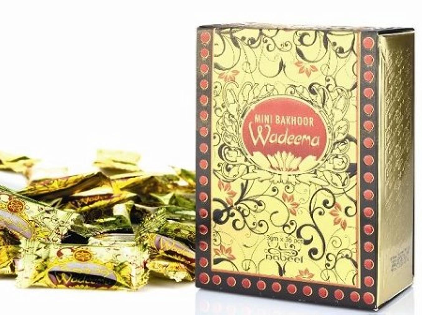 自慢アトム軽くBakhoor Wadeema by Nabeel (Box of 36 x 3g) by Nabeel
