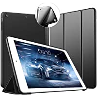 VAGHVEO iPad Mini 3/2 / 1 ケース 超薄型 超軽量 TPU ソフトスマートカバー オートスリープ機能 衝撃吸収 三つ折りスタンド 全7色 for Apple iPad Mini、 iPad Mini2、 iPad Mini3 (初代第二三世代) (ブラック)