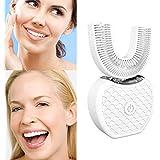 新しい電動歯ブラシ、V-white 超音波自動歯ブラシ360°包囲清掃歯、より深い清掃 (ホワイト)