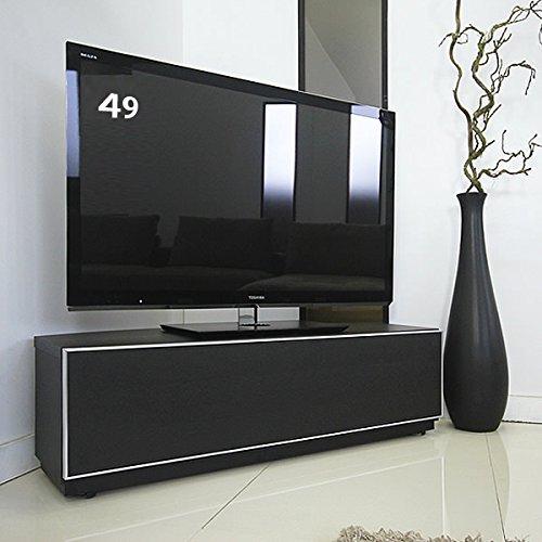 GENERAL SHAPE(ジェネラル シェイプ) テレビ台 コーナー 120 国産 キャスター付き テレビボード 黒