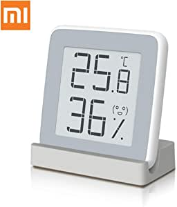温湿度計 Homidy 温度計 デジタル湿度計 室内 高精度±0.3℃ E-Ink大画面 見やすい 顔文字でお知らせ 置き・掛け・貼り三用(マグネット付) 日本語説明書
