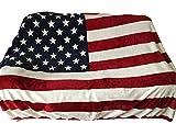 アメリカ 星条旗 国旗 ふんわり あったか 毛布 ブランケット スタイリッシュ ソファカバー (11 アメリカ 140×210)