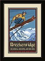 NorthwestアートMall pal-0194MFGDM SJ Breckenridgeコロラド州スキージャンパーFramed壁アートby Artistポール・A Lanquist、13by 16インチ