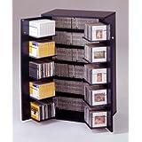 CDラック 収納名人 ブラック CD約454枚収納  日本製