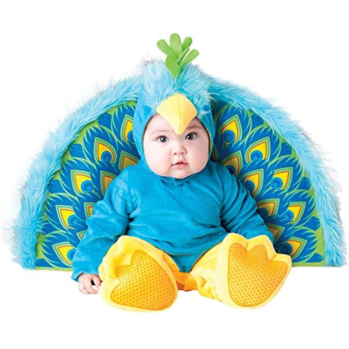 有益リムぴったり幼児の赤ん坊の幼児孔雀のハロウィーンは服装を着せ替え (90cm)