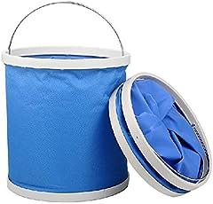 折り畳み式バケツ ウォーターバッグ オックスフォード多機能 洗車 アウトドア洗面場 キャンプ ハイキング 釣りに最適 大容量 11L