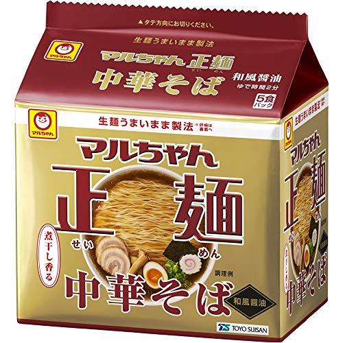 マルちゃん マルちゃん正麺 中華そば 和風醤油 5食パック(105gX5P) ×6個