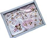 ベビー肌着 出産祝い ディズニー 肌着セット ミッキー ミニー ベビー 短肌着 コンビ肌着 グレコロンパス スタイ ミトンギフト(ピンク)