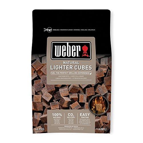 ウェーバー 着火剤  火起こし 100%天然素材点火キューブ 48個 17612