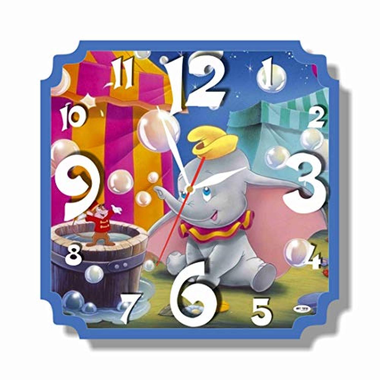 (Dumbo) 11'' 壁時計 (ダンボ) あなたの友人のための最高の贈り物。あなたの家のためのオリジナルデザイン。