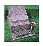 納骨所付 ピンク 御影石お墓(28×37×高さ26㎝)文字彫り入れ30字まで含む.金具及び設置用資材付