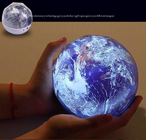 JPDream 地球投影ランプ ベッドサイドランプ スタープロジェクター 投...
