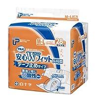 P.Uサルバ 安心Wフィット 弱酸性 M-Lサイズ 28枚入×2袋 (大人用紙おむつ テープ式)