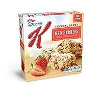 ケロッグ スペシャル K、シリアルバー、赤い果実、6 カウント、4.86 オンス ボックス (4 パック) Kellogg's, Special K, Cereal Bars, Red Berries, 6 Count, 4.86oz Box (Pack of 4)