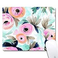 カラフルな花のマウスパッド楽しいゲーミングマウスパッド、滑り止めマウスパッド