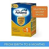 Aptamil Gold+ Infant Formula Stage 1 Multipack Sachet, 5 Pack, 109.5 Grams