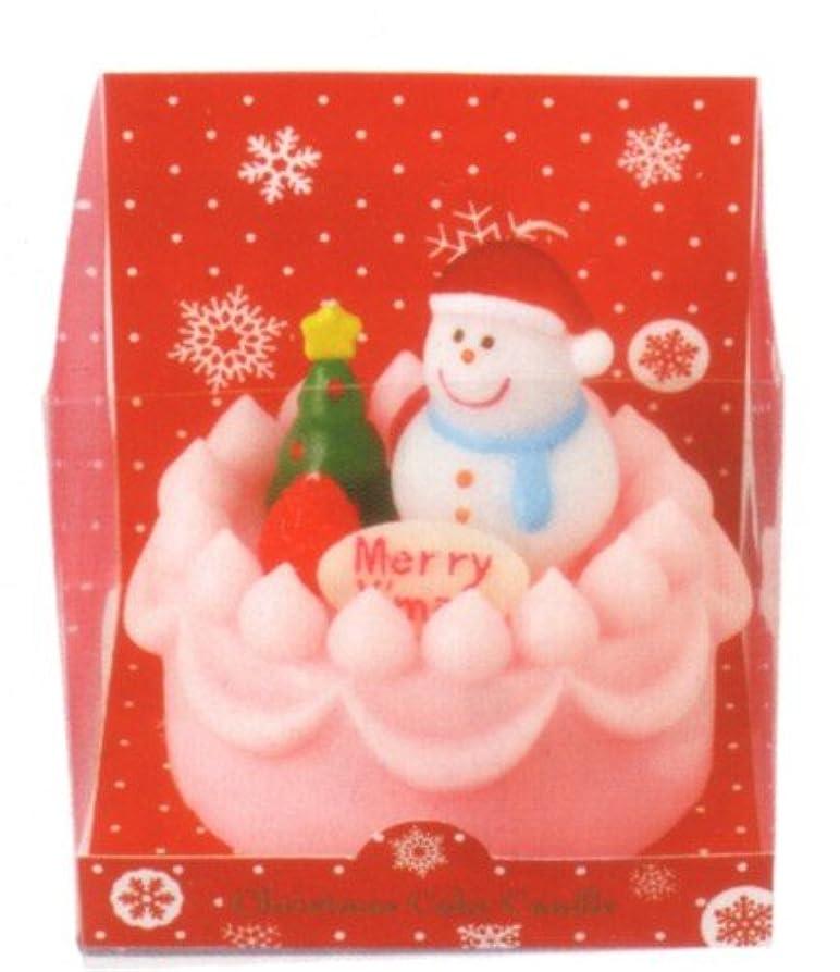 震えるシルク面クリスマスデコケーキキャンドル スノーマン